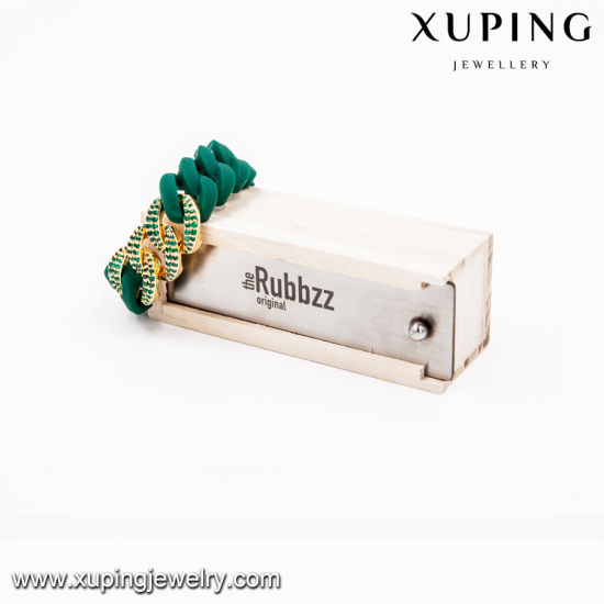 Xuping Gold Plated Rubbzz Fashion Bangle in Silicone Material (51694) pictures & photos