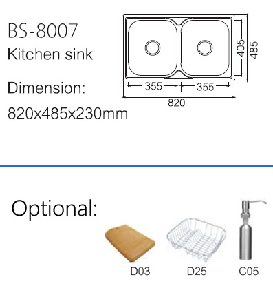 Best Price Stainless Steel Kitchen Sink (BS-8007) pictures & photos