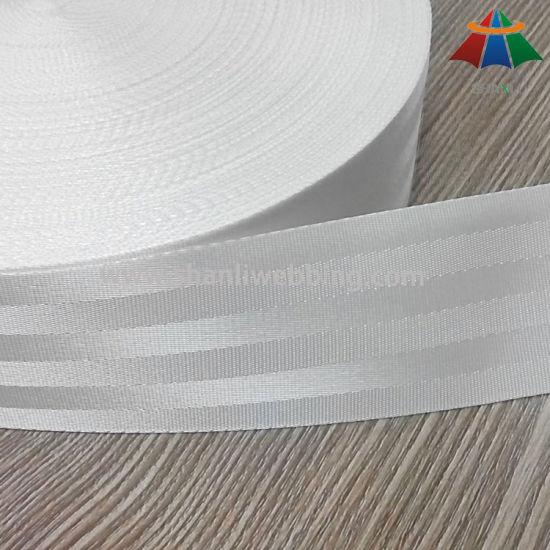 2 Inch Bleached White Nylon Seat Belt Webbing