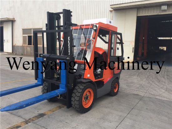 3.5ton Powered Engine Pallet Truck Diesel Forklift with Heavy Fork pictures & photos