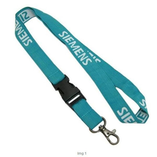 Customized Company Flat Woven Lanyard Loop Scale Fabric Lockable Monogrammed pictures & photos