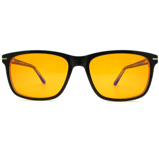 Customized Brand OEM ODM UV400 Computer Glasses Anti Blue Blocking Lens with Orange Lens