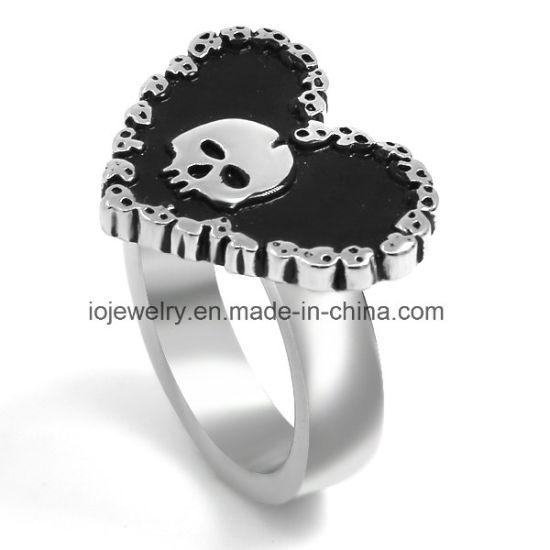 316L Skull Stainless Steel Ring Custom Biker Jewellery