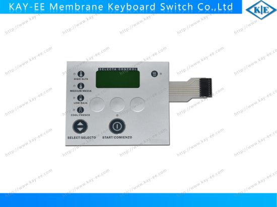 Rim Emboosed Membrane Switch with Everlight Bi-Color LED and AMP Connector pictures & photos
