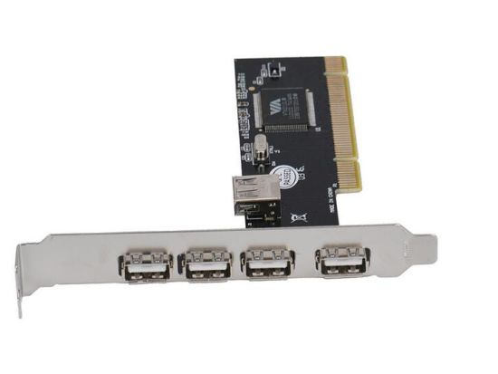 USB 2.0 4 Port Card Adapter 480Mbps High Speed VIA HUB PCI Controller Adapter