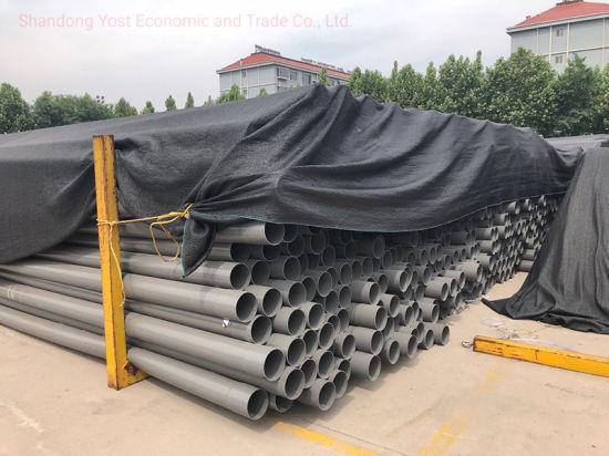 China Dn160mm Pn10 Plastic Plumbing Material PVC Pipe for