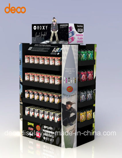 Corrugated Cardboard Paper Display Shelf Pop Display Rack for Retail pictures & photos