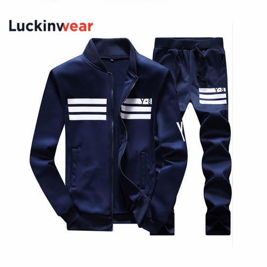 2019 Spring Men Fashion Long Sleeve Sportswear Sets with Wholesale Price