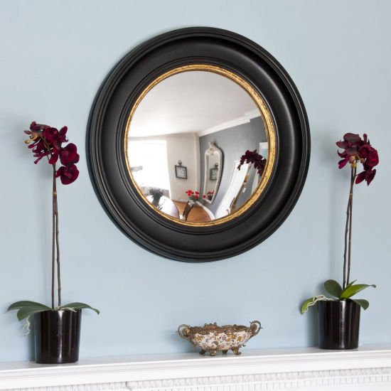 China Round Simple Design Wooden Wall, Round Mirror Wall Decor Wood