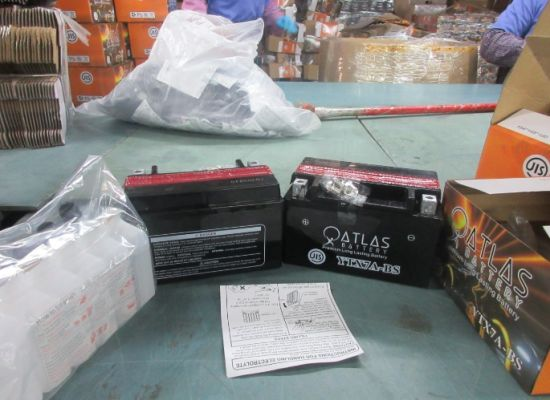 Atytx7a-BS 12V7ah Dry Charged Maintenance Free Motorcycle Battery