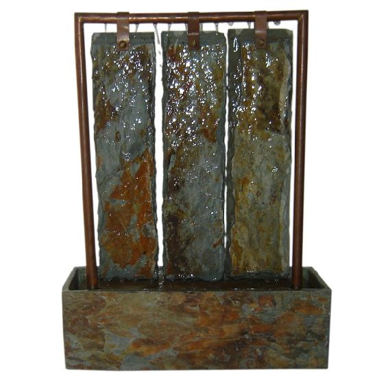 Charmant Real Copper And Natural Stone Table Water Fountain