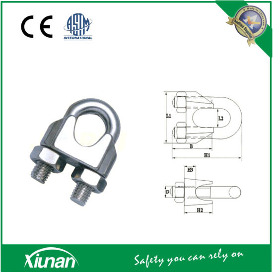 China M10 Wire Rope Cable Clip Saddle Clamps - China Rope Clips ...