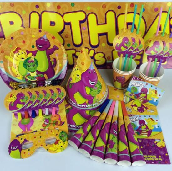 Factory Direct Sale Cartoon Dinosaur Theme Party Set Children Birthday  Party Decoration Supplies Scene Layout Props