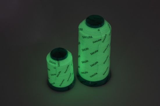 China Polyester Luminous Embroidery Thread Glow In The Dark China