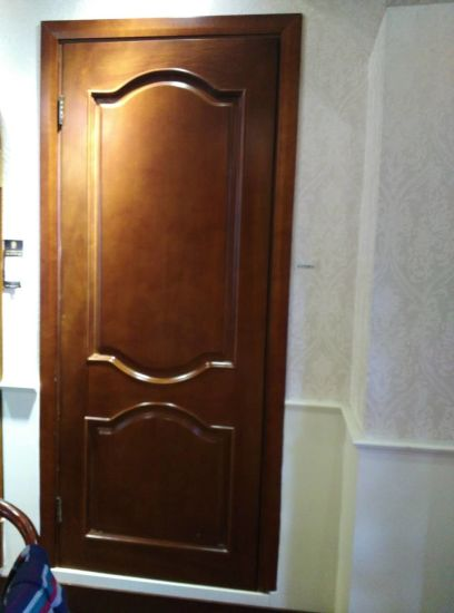 High Quality And Brown Colour Solid Wood Doors For Villa Apartment