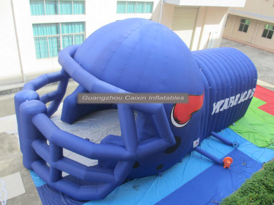 2019 New Popular Outdoor Sports Event Inflatable Football Helmet Tunnel pictures & photos