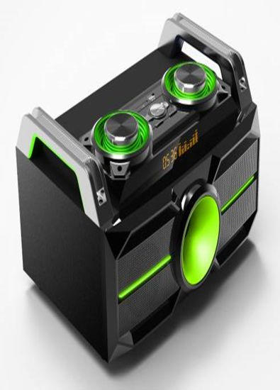 Boom Box with Bluetooth, USB, SD Input and FM Function