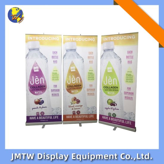 High Quality Advertisingretractable Aluminum Frame Roll up Projection Banner Display Stand
