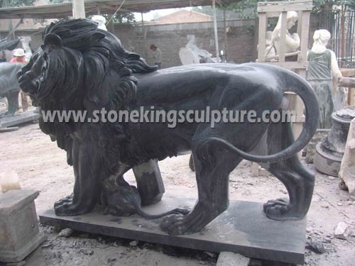 Marble Lion, Carved Stone Lion and Marble Animals (SK-2186) pictures & photos
