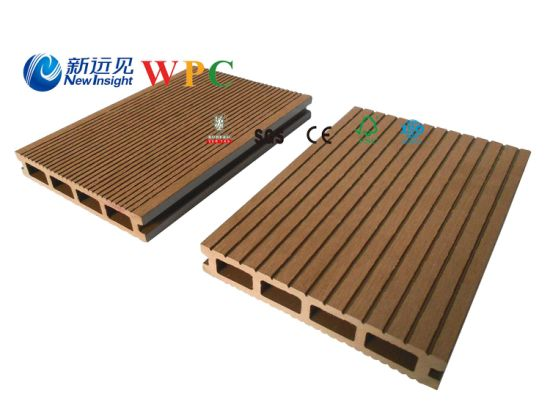 150*25mm Wood Plastic Composite Decking with CE, Fsg SGS, Certificate