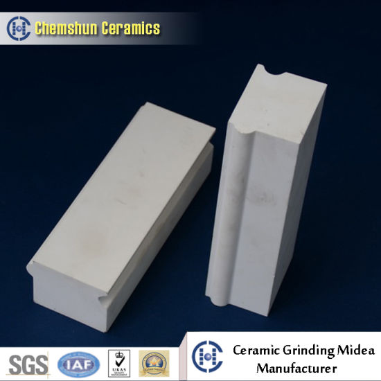 92% 95% Ceramic Lining Brick for Sanitary Industry Ball Mill pictures & photos