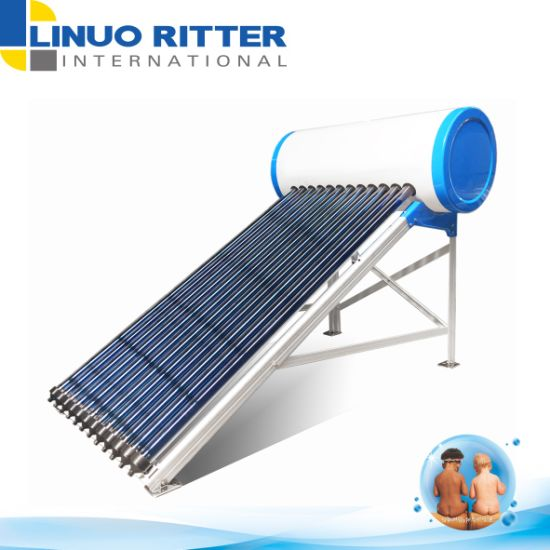 200L Heat Pipe Evacuated Tube Solar Water Heater (standard type) with Stainless Steel SUS304 Water Tank