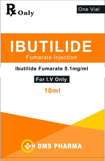 Antiarrhythmic Agent Ibutilide Fumarate Human Medicine Injection 0.1mg/Ml