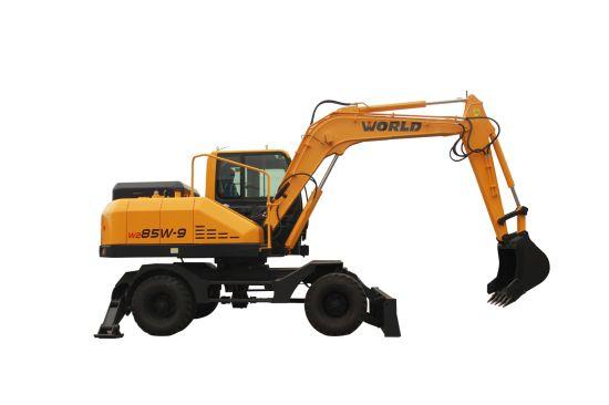 Exported Wheel Backhoe Excavators with Ce Certification