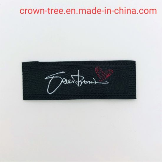 Cotton imitation Label Customer Brand Name Logo with End Folded