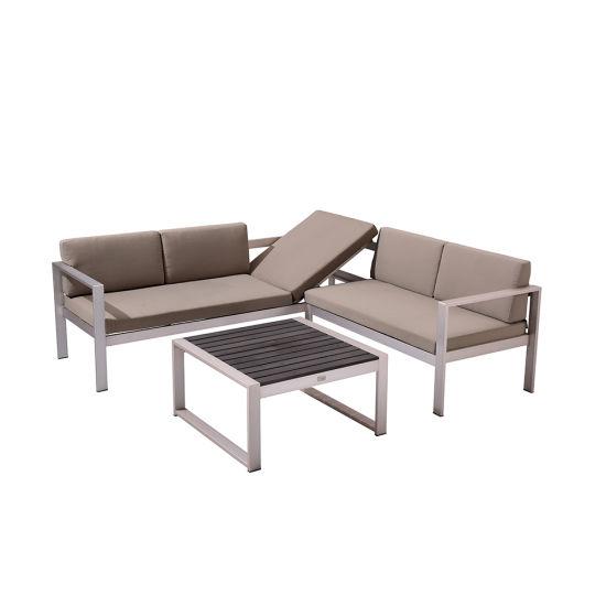 Outdoor Wooden Table Modern Adjustable Deck Chair Garden Sofa Sets