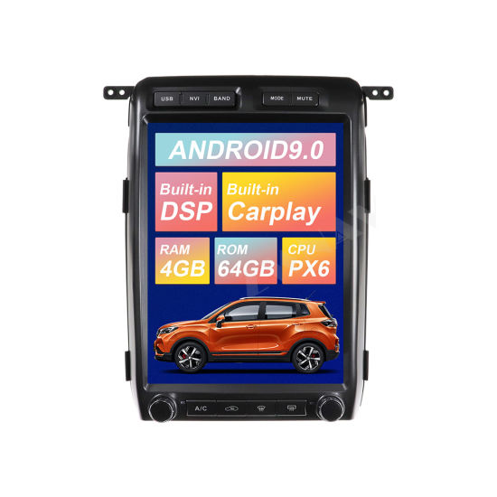 Tesla Big Screen Android 9.0 64GB Car DVD Player for Ford F150 2009-2014 GPS Navigation Px6 Auto Stereo Radio Head Unit