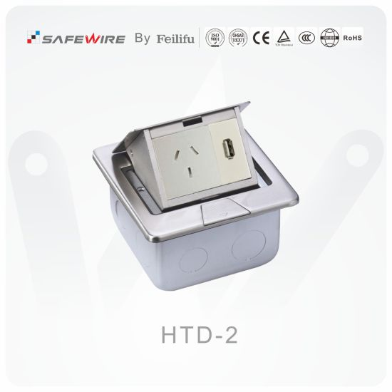 Stainless Steel Floor Socket/Floor Box/Pop up Electrical Socket/Waterproof Socket