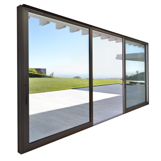 Made in China Professional Powder Coated Bullet Proof Aluminum Security Sliding Glass Door Price