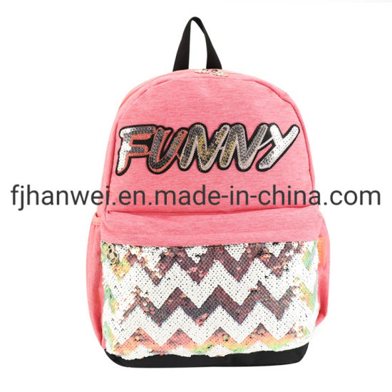 Hot Sale Leisure Sequins Teenagers' School Bag