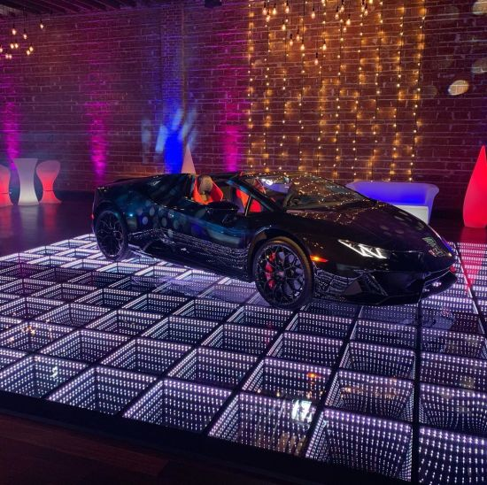 DIY Portable Disco Lighted DJ Lights Infinity LED 3D Dance Floor Panels for Sale