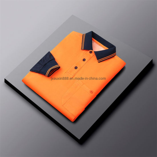 Cotton Inside Polyester Face Polo Safety Workwear Hivis Outdoor Clothes