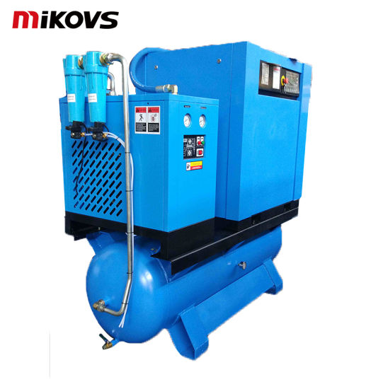 7.5 Kw 11 Kw 15 Kw Mini Silent Oil Lubricated Portable Type All-in-One Combined Screw Air Compressor with Air Tank, Air Dryer