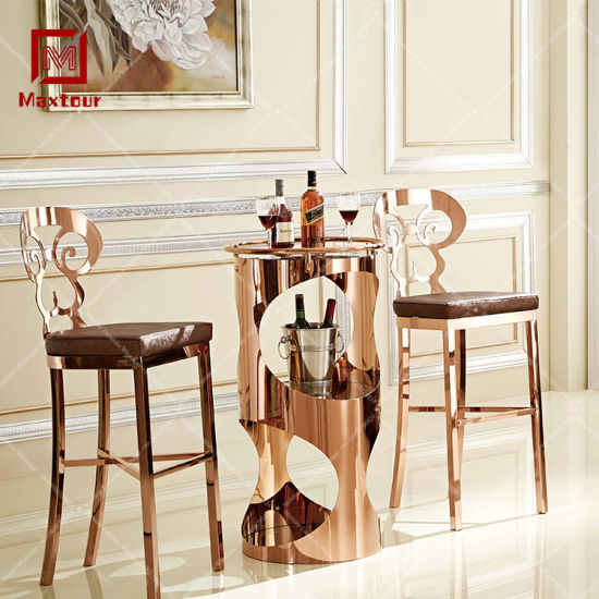 Modern Bar Furniture Stainless Steel Gold Bar Stool Chair of Luxury Design