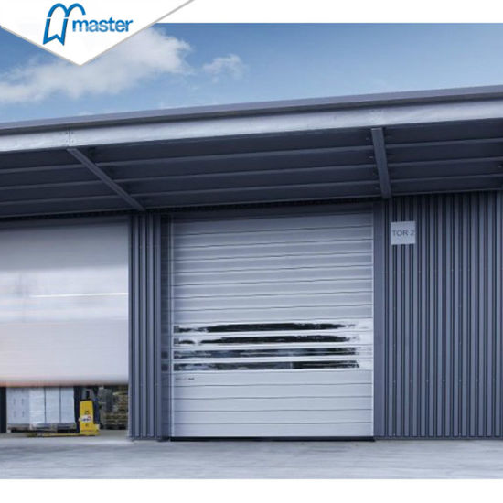 Factory Sound Proofing PU Foam Spiral High Speed Hard Fast Rolling Doors