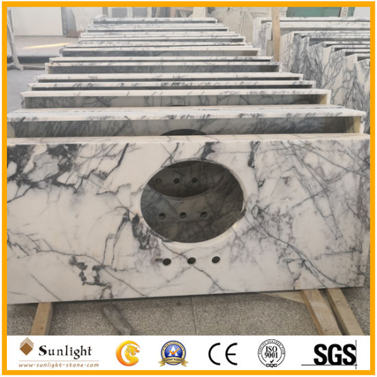 Popular Natural Polished Heaven Bird Marble Countertops for Hotel Cabinet Project