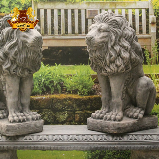 Factory Direct Wholesale Price High Quality Stone Marble Lions Statue Sculpture for Decoration