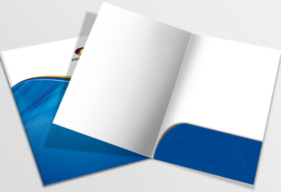 Custom A4 A5 Paper File Presentation Folder for File and Business Card China pictures & photos