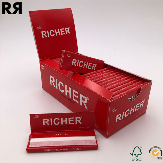 Custom Booklet/Box/Papers FDA Certificate Natural Smoking Rolling Papers