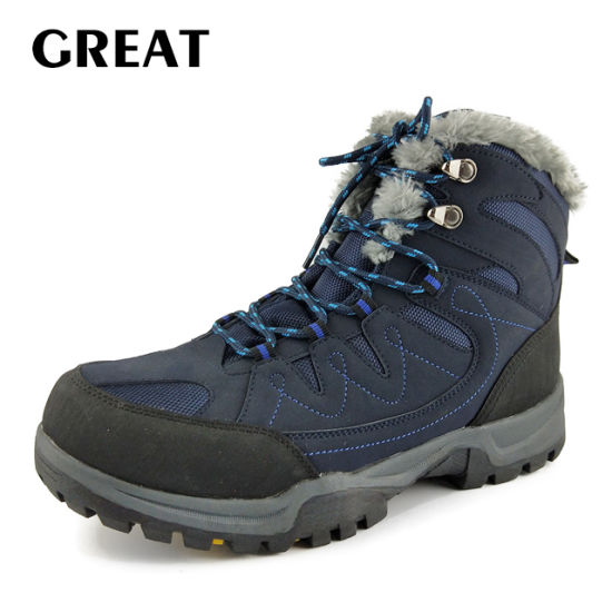 Greatshoe Fashion Design Genuine Leather Safety Hiking Winter Outdoor Boots Man Sport Shoes Walking Boots Wholesale