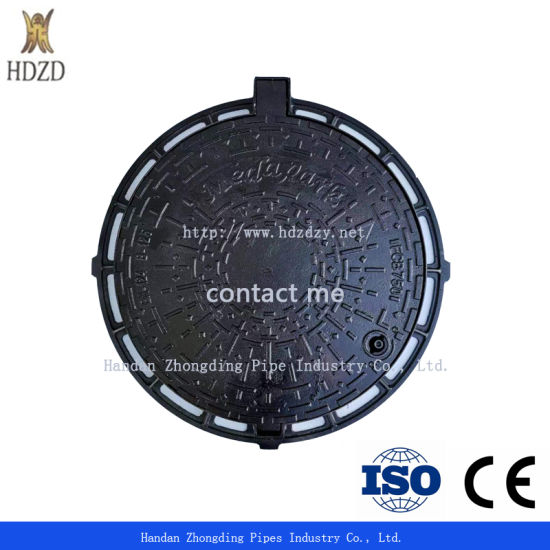 Customized Heavy Duty Square and Round Lockable Cast Ductile Iron Manhole Cover for Road Construction