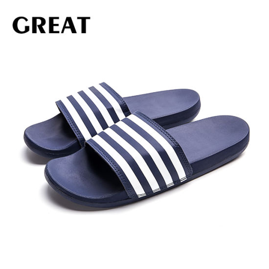 Greatshoe Summer Outdoor Man's Flat Slipper Soft Plain Slide Sandal EVA Slide Slipper Custom Logo Men Slipper Footwear