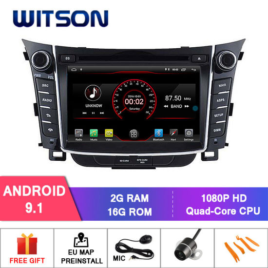 Witson Quad-Core Android 9 1 Car DVD GPS for Hyundai I30 2011-2013 Built in  16GB Inand Flash