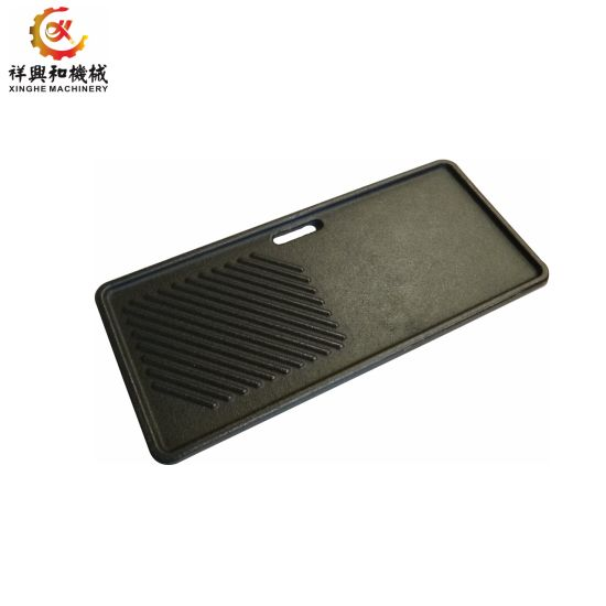 Custom Stainless Steel Iron Sand Casting BBQ Plate for Stove