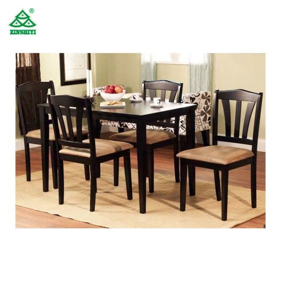 New Design Furniture Wooden Material Dining Table With Chairs Made In China