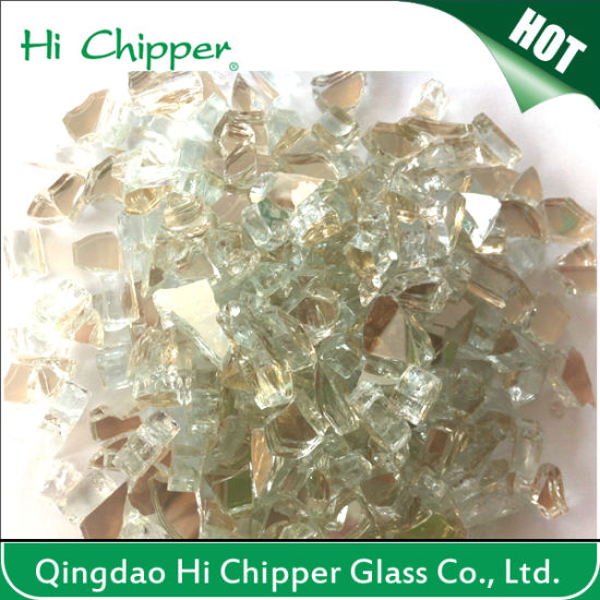 Light Grey Colored Tumbled Fire Pit Tempered Glass Chips for Outdoor pictures & photos